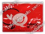 ซองซิป-พลาสติกใสสีแดงสกรีน2สี