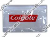 ซองซิปพลาสติกคอลเกตใส่ของสกรีนโลโก้คอลเกต2สีพลาสติกใส