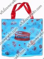 กระเป๋าผ้าลดโลกร้อน ผ้าสปันบอนด์ Silk screen สีแดง 1 สี