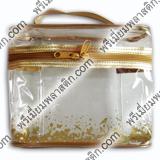 กระเป๋าพลาสติกกึ๊นสีทอง สกรีนสรทอง
