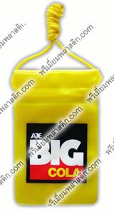 ซองกันน้ำมือถือพลาสติกเลเซอร์เหลืองพิมพ์โลโก้บิ๊กโคล่า