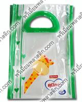 กระเป๋ากิ๊ฟเซ็ท ทรงช้อปปิ้งขอบกุ๊นและหูจับสีเขียว