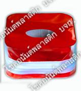 กล่องพลาสติกใส่กระดาษเช็ดชู่พลาสติกสีแดง