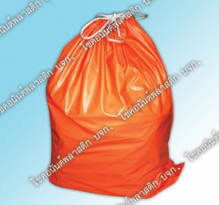 ถุงพลาสติกยังชีพ พลาสติกสีส้ม