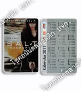 บัตรปฏิทินพกพา พลาสติก ขนาดมาตรฐาน 5.4x8.6 ซม.