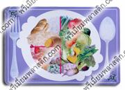 แผ่นรองจานพลาสติกพีพี PP-Sheet dish mat