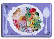 แผ่นรองจานพลาสติก พีวีซี พิมพ์ลาย ซิลค์สกรีนสอดสี CMYK