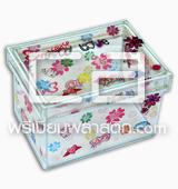 กล่องพลาสติกใสพิมพ์ลายเนื้อพลาสติกพีวีซีนิ่ม PVC SOFT โครงเหล็ก