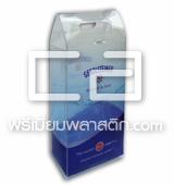 กล่องพลาสติกใสพิมพ์ออฟเซ็ท กล่องพลาสติกใส่น้ำดื่ม Design Diecut เจาะหูหิ้ว
