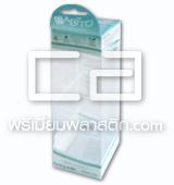 กล่องพลาสติกใสใส่เครื่องสำอาง Design Diecut มีหูเจาะเเขวนโชว์สินค้า