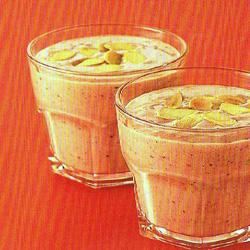 สูตร-วิธีการทำเครื่องดื่มน้ำผัก น้ำผลไม้ สูตรลดความเครียด สตรอเบอร์รี่-กีวี-นม-อัลมอนด์
