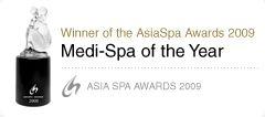 """เอส เมดิคัส สปา กรุงเทพฯ S Medical Spa, Bangkok  รางวัลชนะเลิศ Asia's Leading Medical Spa - Winner of the Asia Spa Awards 2009 """"Medi-Spa of the Year 2009"""""""