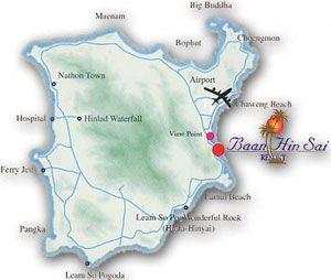 แผ่นที่ ศิลารมย์ สปา Silarom Spa ตั้งอยู่ภายในบริเวณ บ้านหินทราย รีสอร์ท  Baan Hin Sai Resort