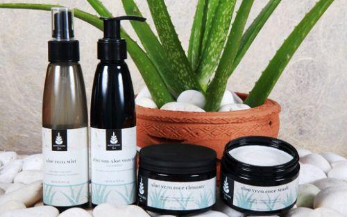 ผลิตภัณฑ์ว่านหางจรเข้ Aloe Vera Products ของ โสรณา สปา หาดป่าตอง จ.ภูเก็ต Sovrana Spa