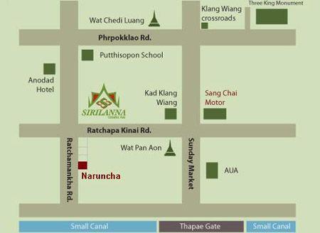 แผ่นที่ของ ณรัลฌา สปา, สปาเชียงใหม่ Naruncha Beauty & Spa, Chiang Mai Spa