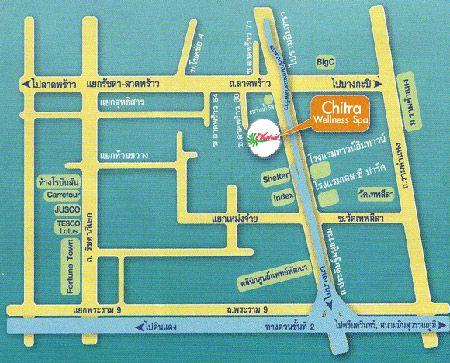 แผ่นที่ของ จิตรา เวลเนส สปา,สปา กรุงเทพฯ Chitra WellNess Spa, Spa Bangkok