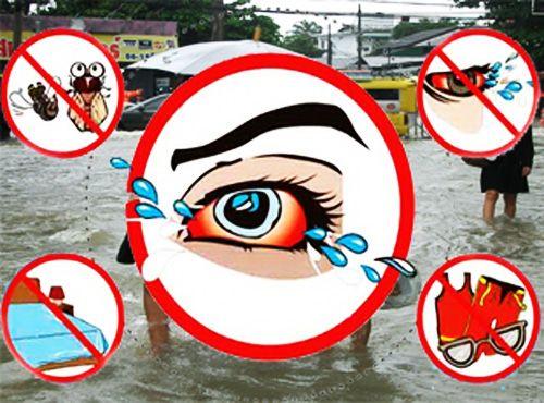 โรคติดต่อที่พบบ่อยในช่วงน้ำท่วมและหลังน้ำลด (โรคน้ำกัดเท้า โรคตาแดง)