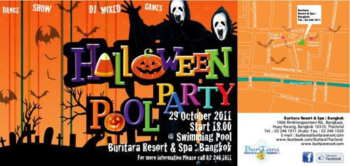 Halloween Pool Party ณ บริเวณสระว่ายน้ำ บุรีธารา รีสอร์ท แอนสปา กรุงเทพฯ